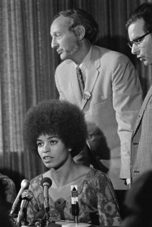 Angela Davis ans Professor Donald Kalish 10/7/69