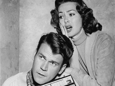 """Don Murray and Barbara Rush in a publicity photo for """"Alas, Babylon"""""""