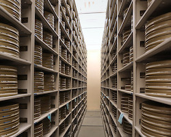 A photo of the massive amount of archived material the FTA curates