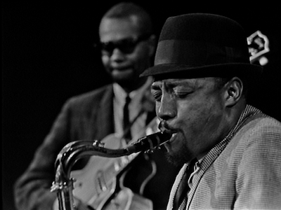 Two jazz musicians on Frankly Jazz.