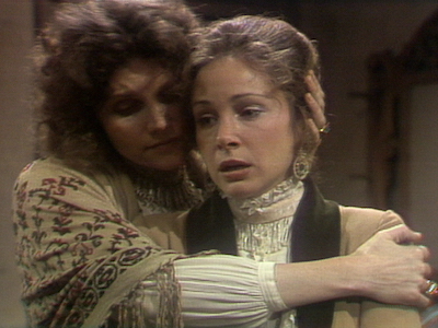 """Frances Lee McCain and Pamela Bellwood in """"The War Widow"""""""