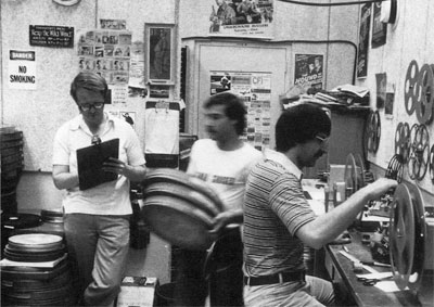Bob Gitt (right) at his first day at the Archive (July 1, 1977).