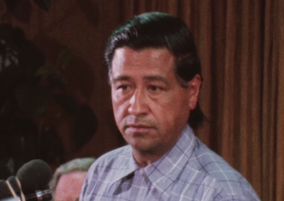 Cesar Chavez, 1974