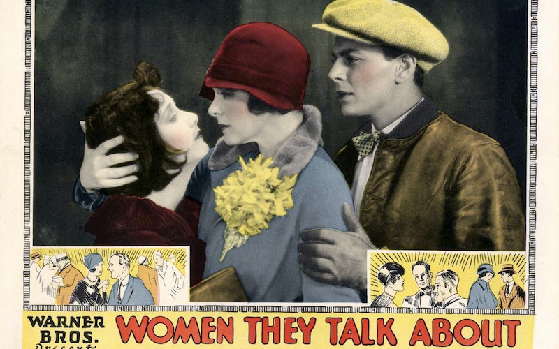 Lobby card for the film Women They Talk About (1928)
