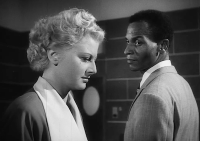 Actors Anna Vita and Ben Johnson in a scene from Anna's Sin.
