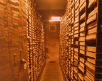 Stacks of archived footage